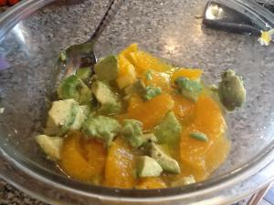 Avocado and Orange