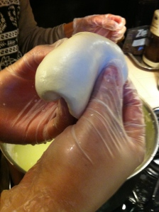 "You'll have to wait for the in-depth post to get the full scoop on the mozzarella, but here's an ""after"" shot."