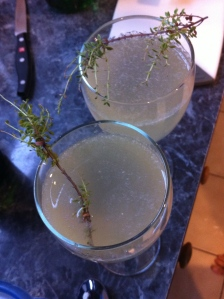 And garnish with thyme.