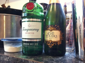 Here's your booze: Gin and Champagne