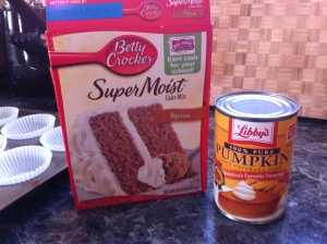 Spice Cake mix with Pumpkin.