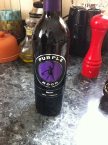 Start with a nice, but cheap red--preferably a merlot. My go-to: Purple Moon.